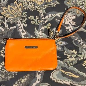 Beautiful Orange Michael Kors Wristlet